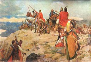 Slovenska mitologija - Page 4 Oton_Ivekovic_Dolazak_Hrvata_na_Jadran